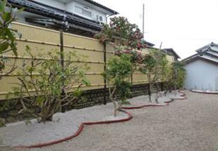竹垣、植栽イメージ